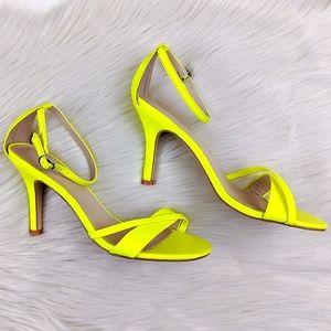 Express Neon Ankle Strap Stilleto Heels